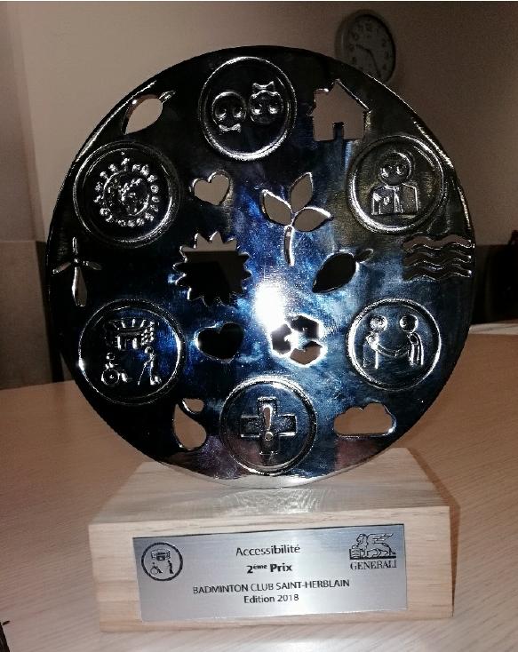 Le trophée arrive à la maison